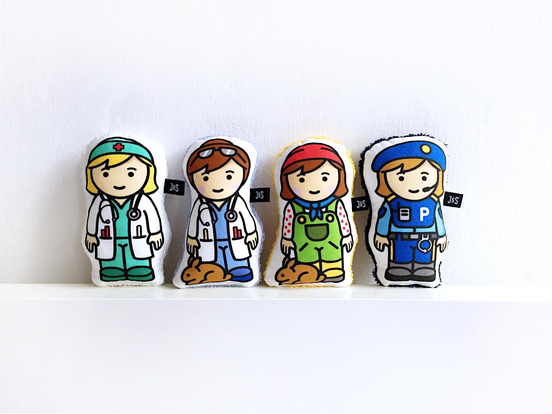 Ärztin Rassel , Doktor, Trösterpuppe, handlich und weich, Baby