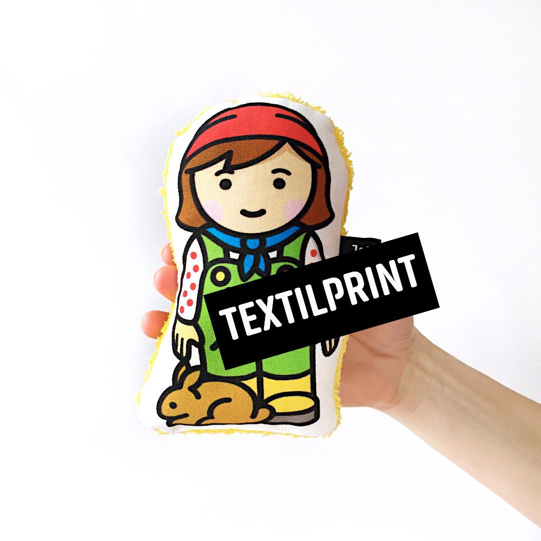 Textilprint zum selber nähen Bäuerin