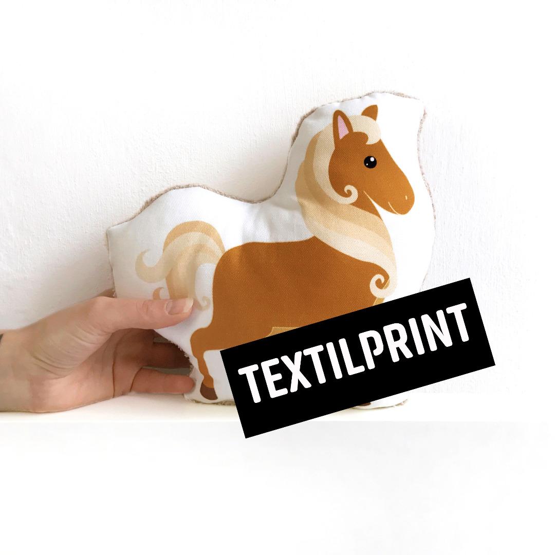 Textilprint zum selber nähen kleines Pferd