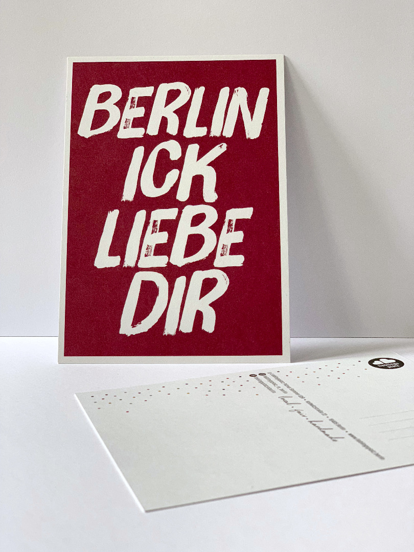 Postkarte Berlin ick liebe dir Berliner - 1