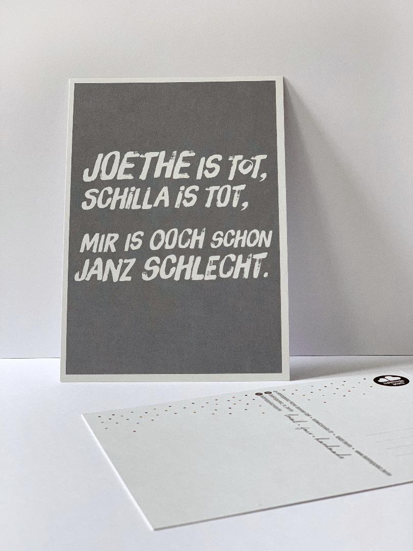 Postkarte, Joethe ist tot, Schilla ist tot... - 1
