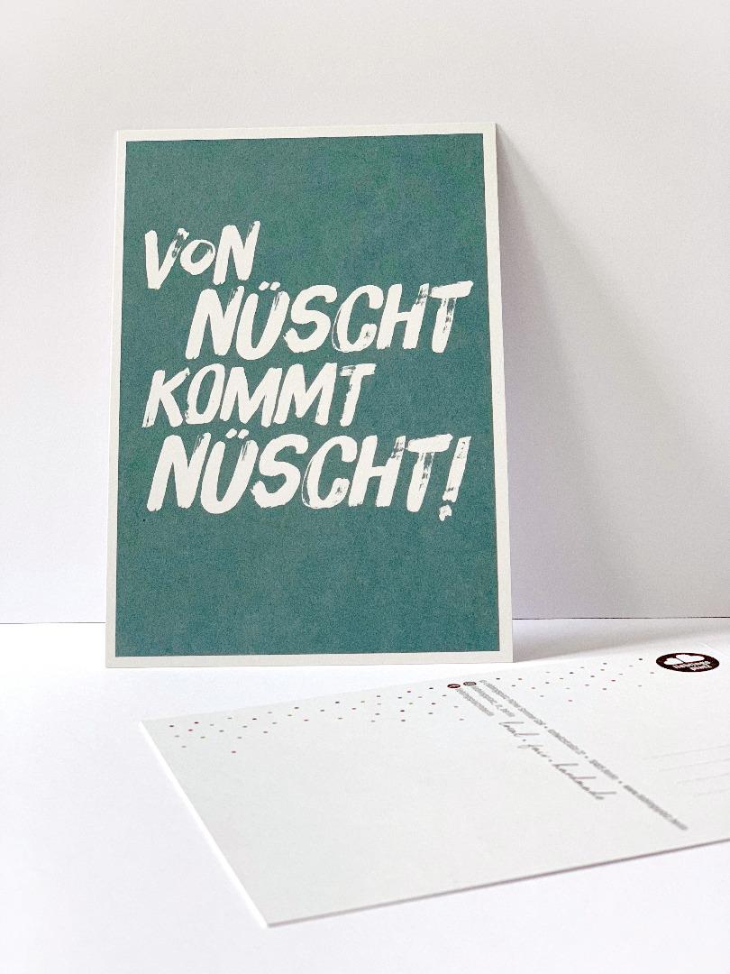 Postkarte von nüscht komt nüscht Berliner - 1