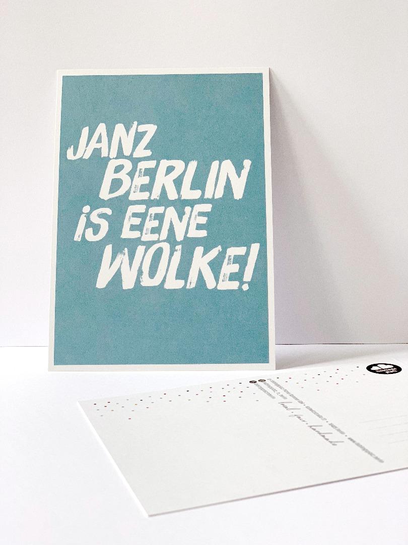 Postkarte, janz Berlin is eene Wolke ... Berliner Mundart - 1