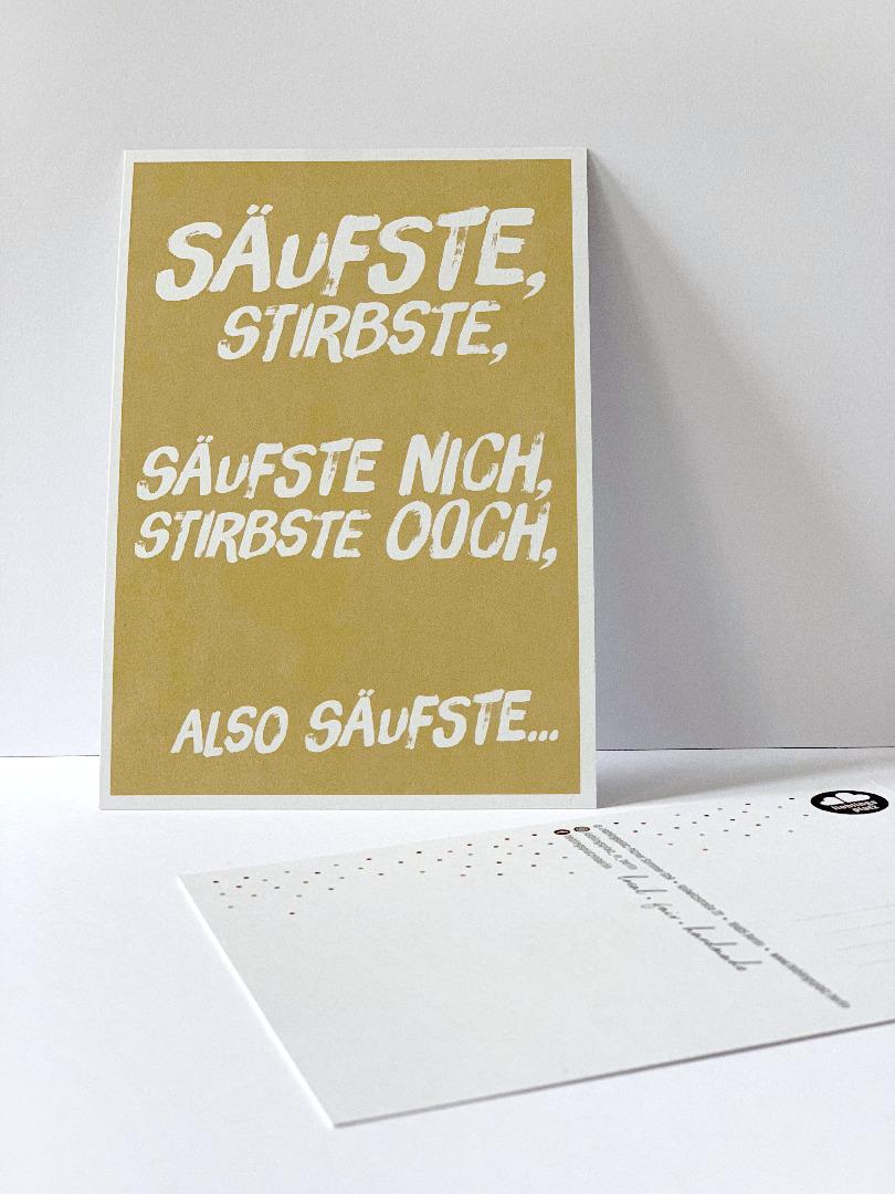 Postkarte säufste stirbste Berliner Mundart - 1