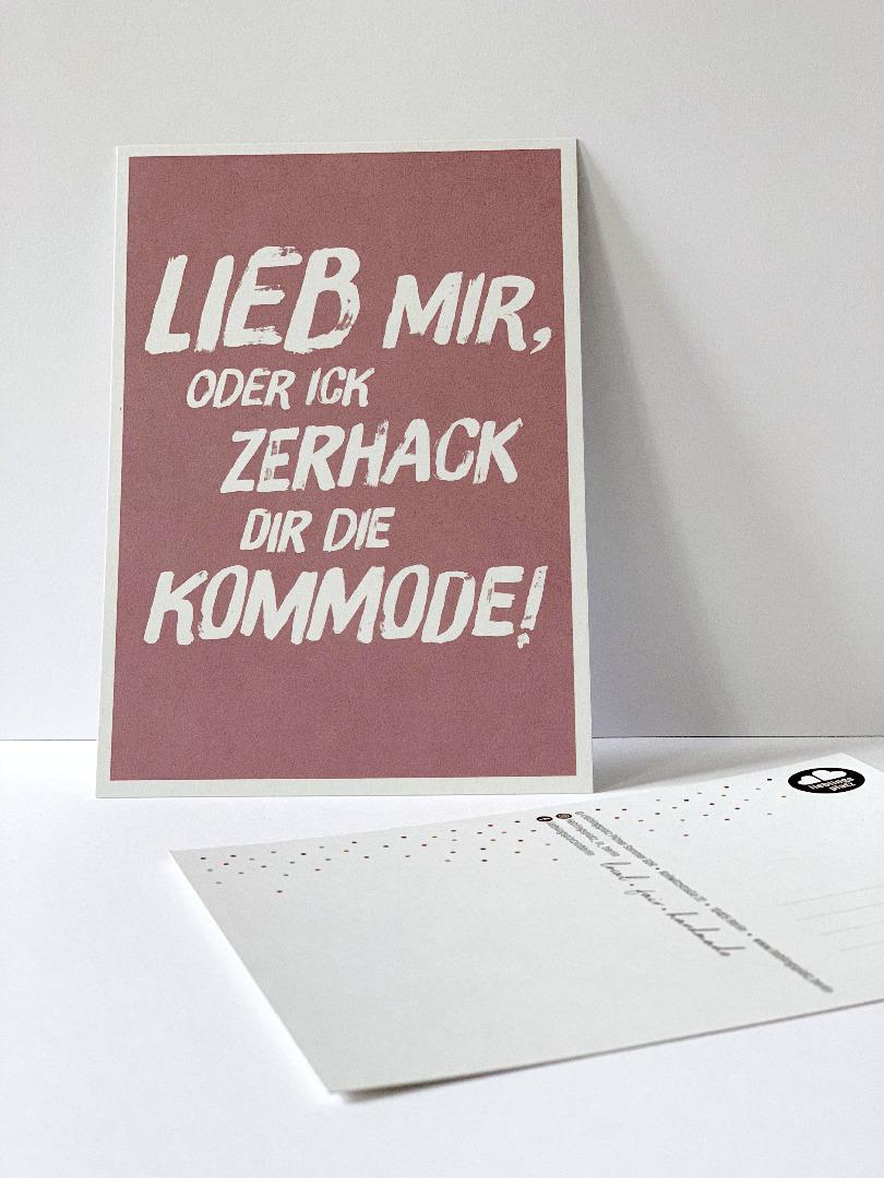 Postkarte, Lieb mir ... Berliner Mundart - 1