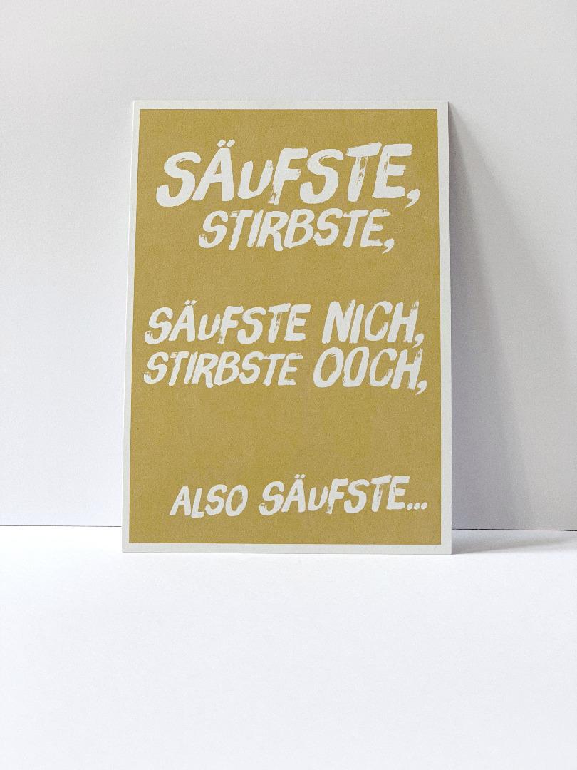 Postkarte säufste stirbste Berliner Mundart - 2