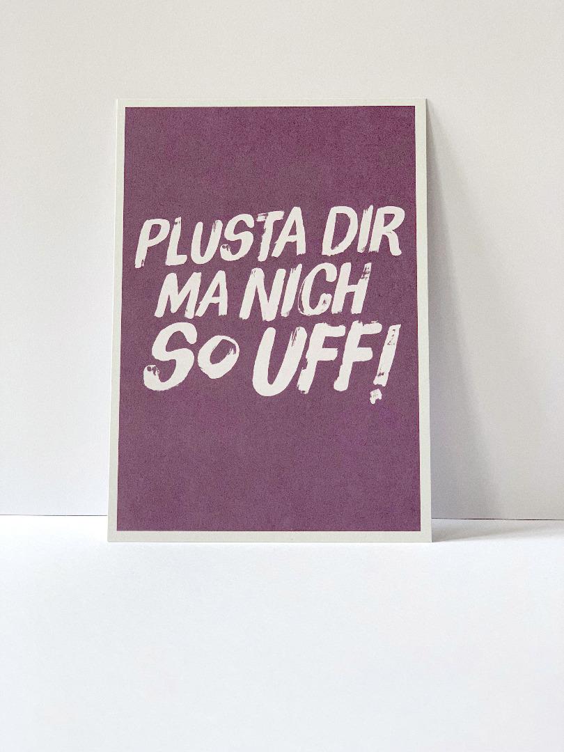 Postkarte Pluster dir ma nich so - 2
