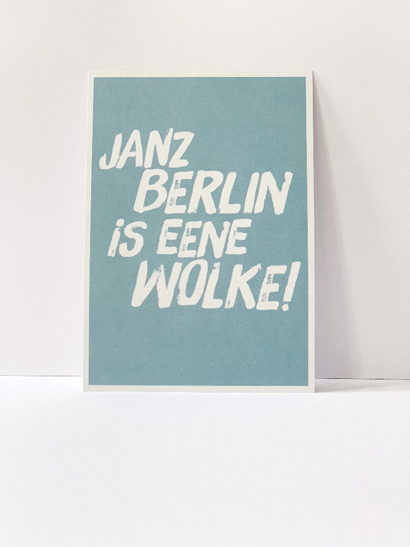 Postkarte, janz Berlin is eene Wolke ... Berliner Mundart - 2