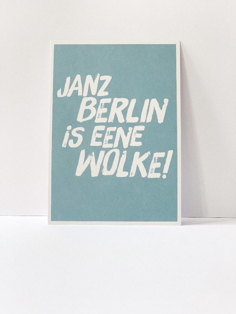 Postkarte janz Berlin is eene Wolke - 2