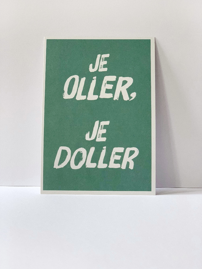 Postkarte, je oller je doller ... Berliner Mundart