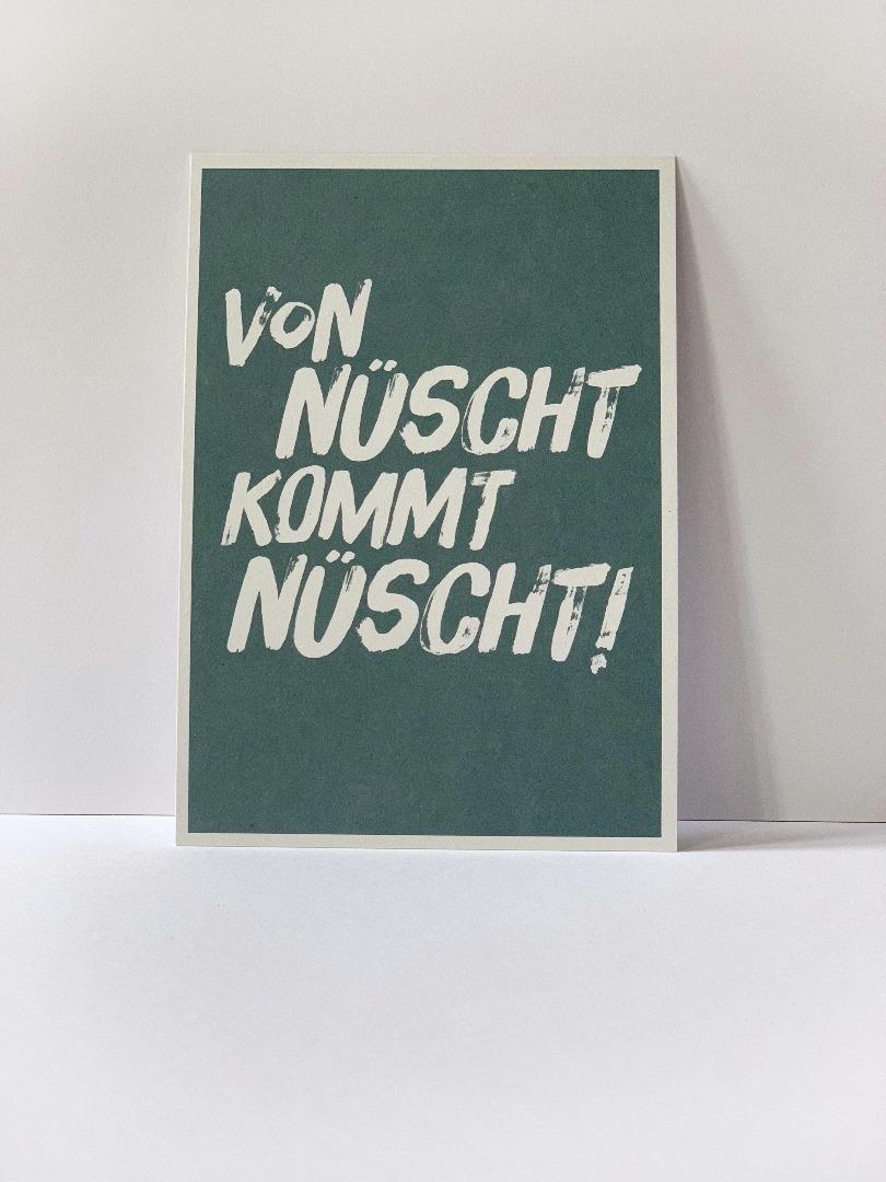 Postkarte von nüscht komt nüscht Berliner - 2