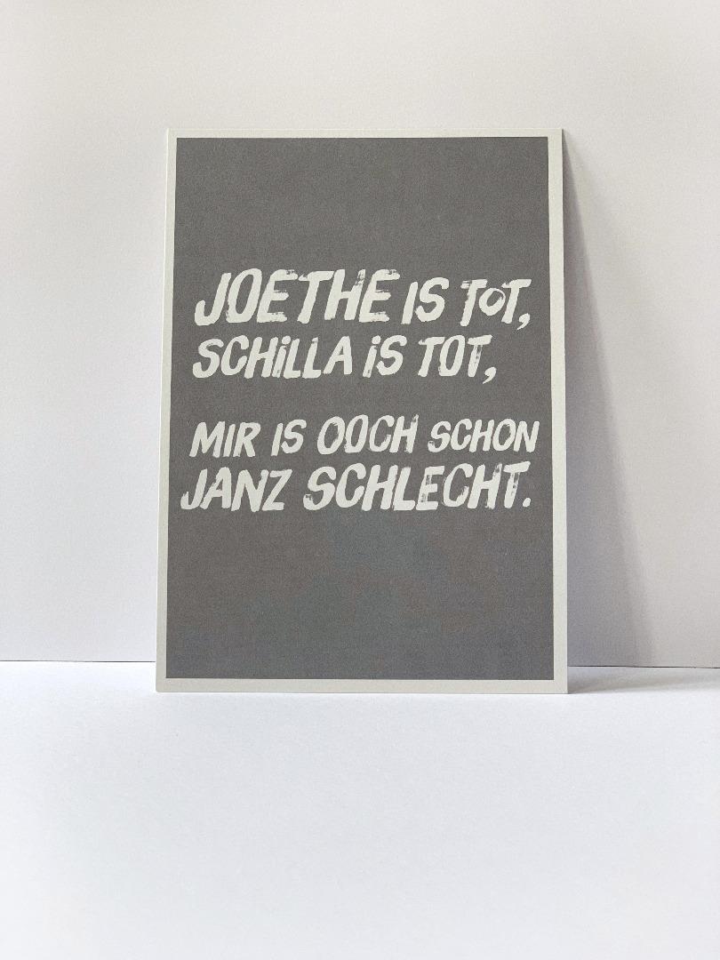 Postkarte, Joethe ist tot, Schilla ist tot... - 2