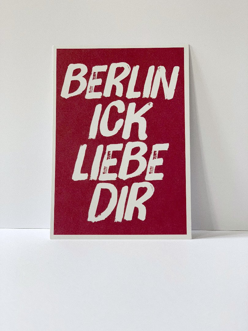 Postkarte Berlin ick liebe dir Berliner - 2