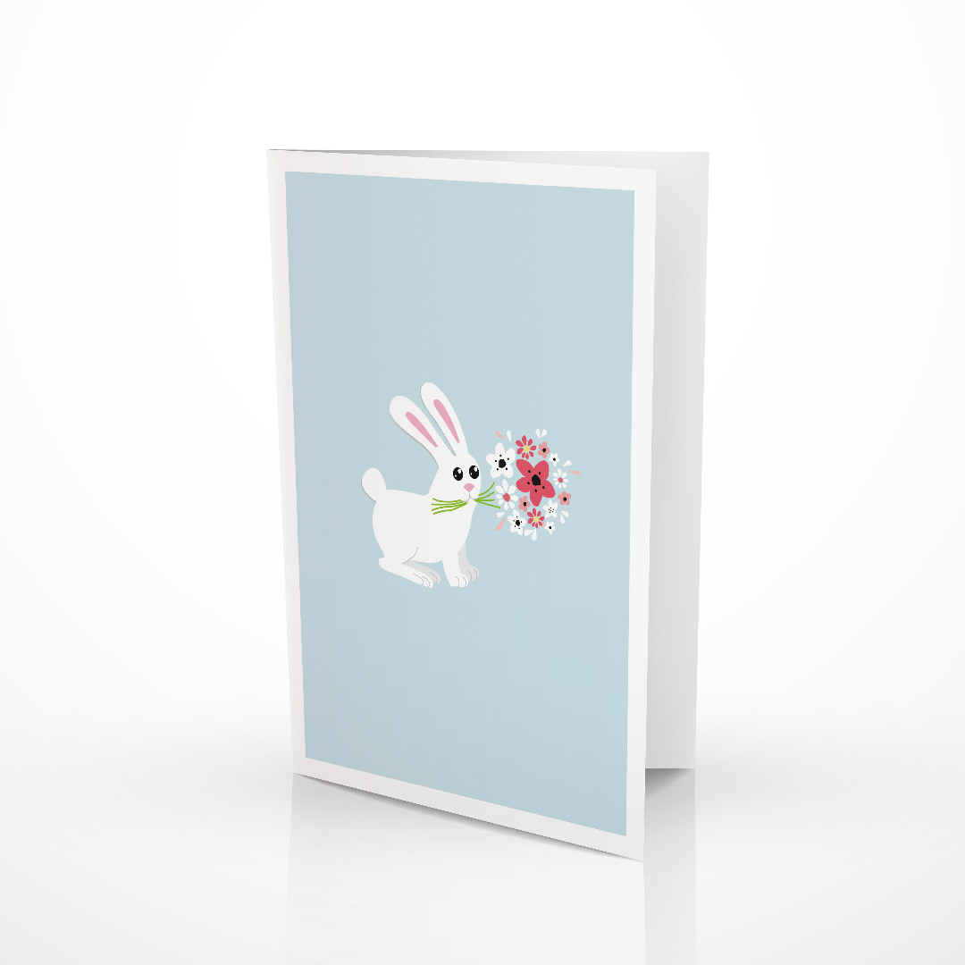 Grusskarte Bunny Osterkarte Glueckwunschkarte mit Hase