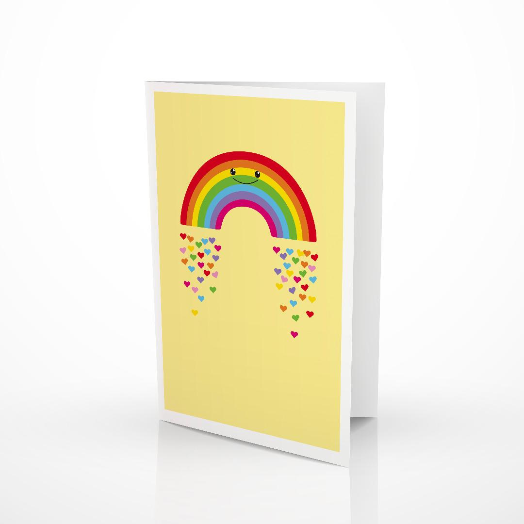 Grusskarte Regenbogen Klappkarte Regenbogenkarte