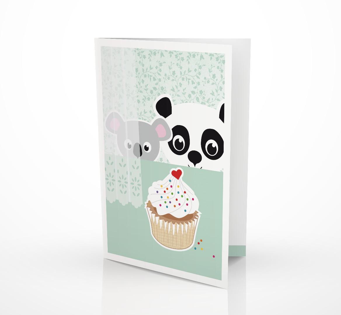 Grußkarte Panda & Koala Geburtstagskarte 2