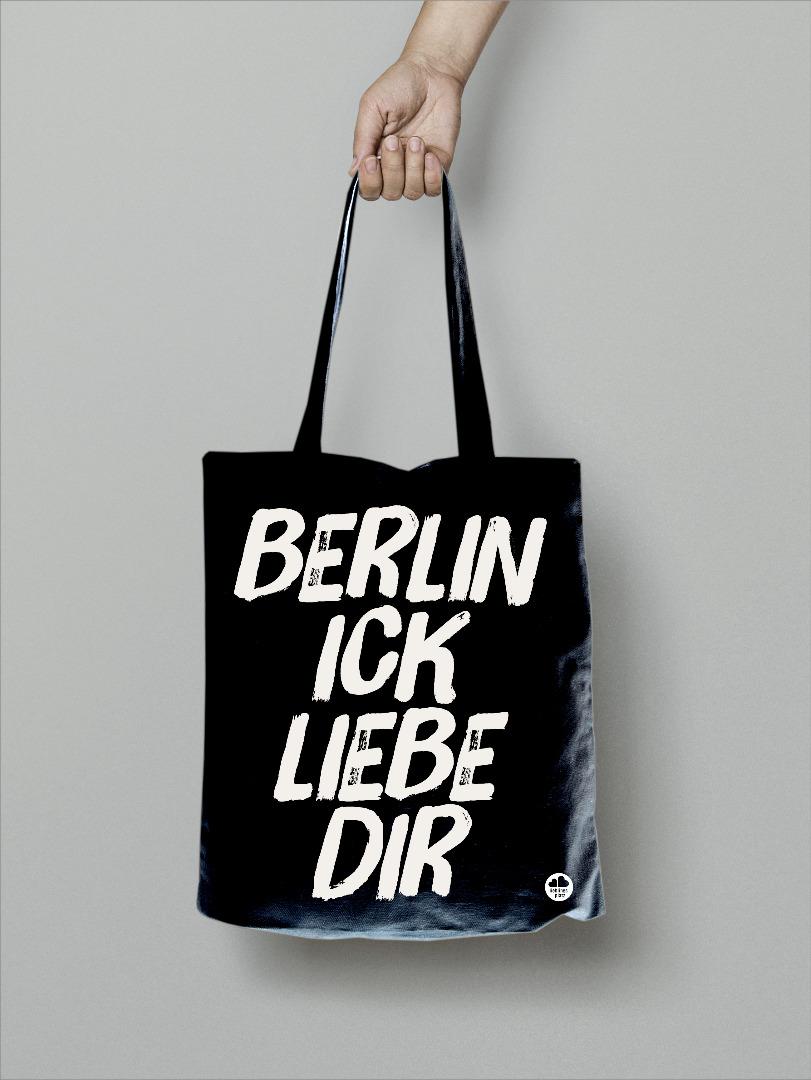 Beutel Berlin ick liebe dir , Tasche, Totebag - 1