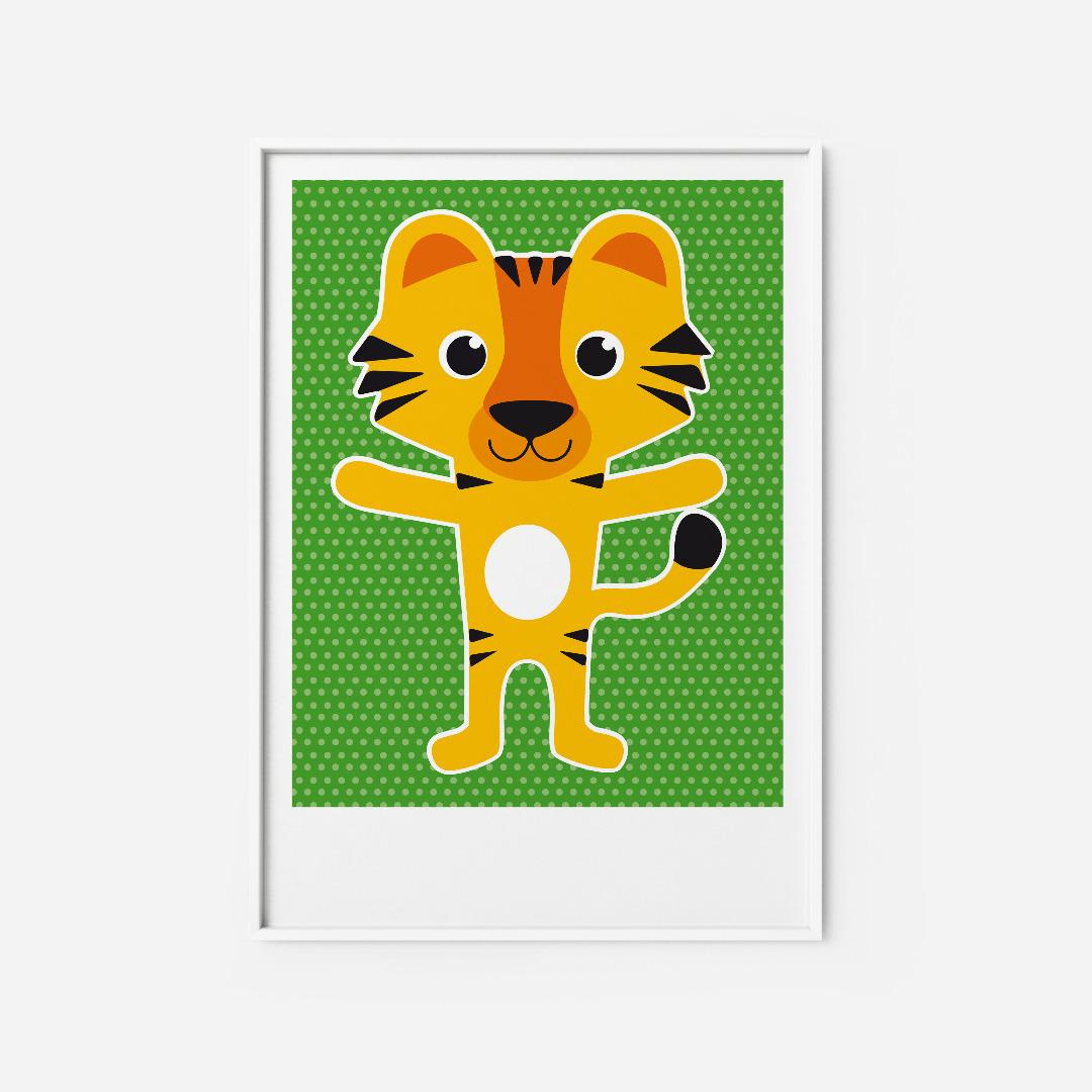 Kinderzimmerbild Tiger Poster - 1