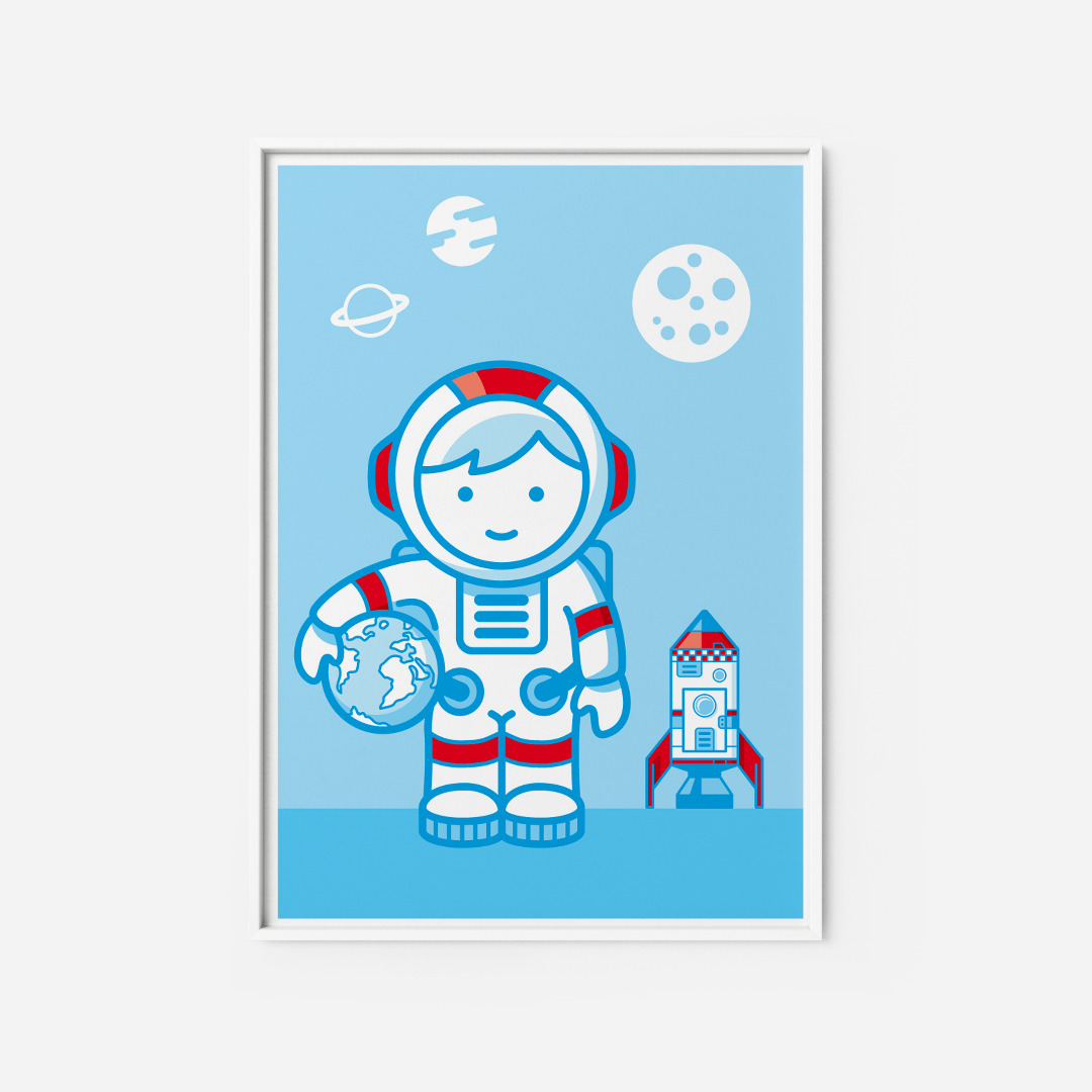 Kinderzimmerbild Astronaut Poster