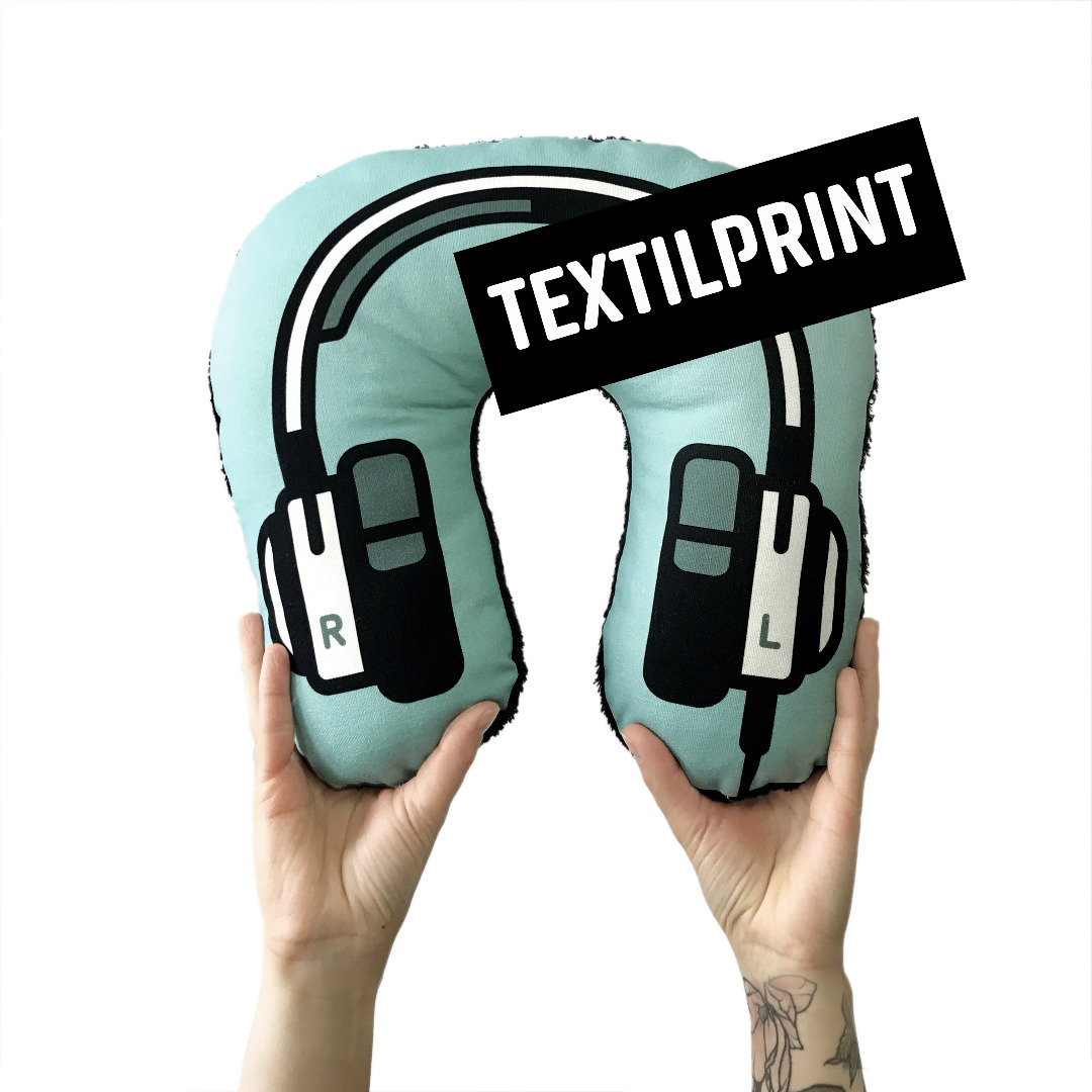 Textilprint zum selber nähen Kopfhörer Nackenkissen