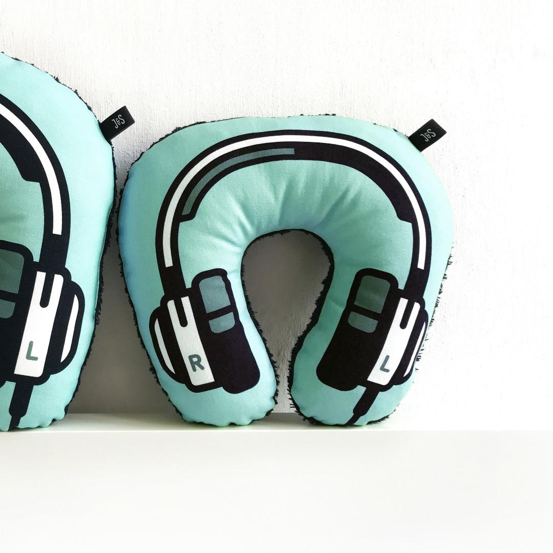 Kopfhörer Nackenkissen blau KIDS