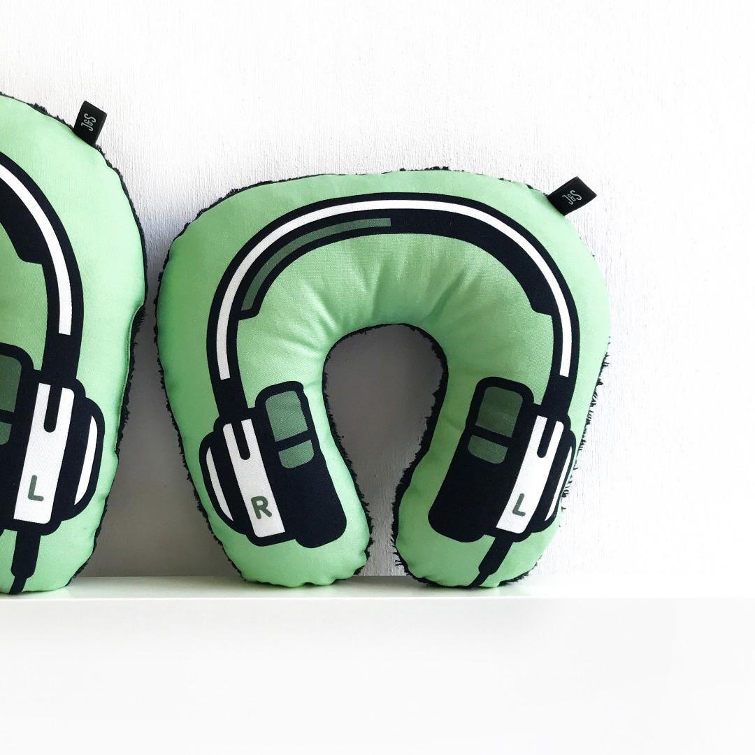 Kopfhörer Nackenkissen grün KIDS