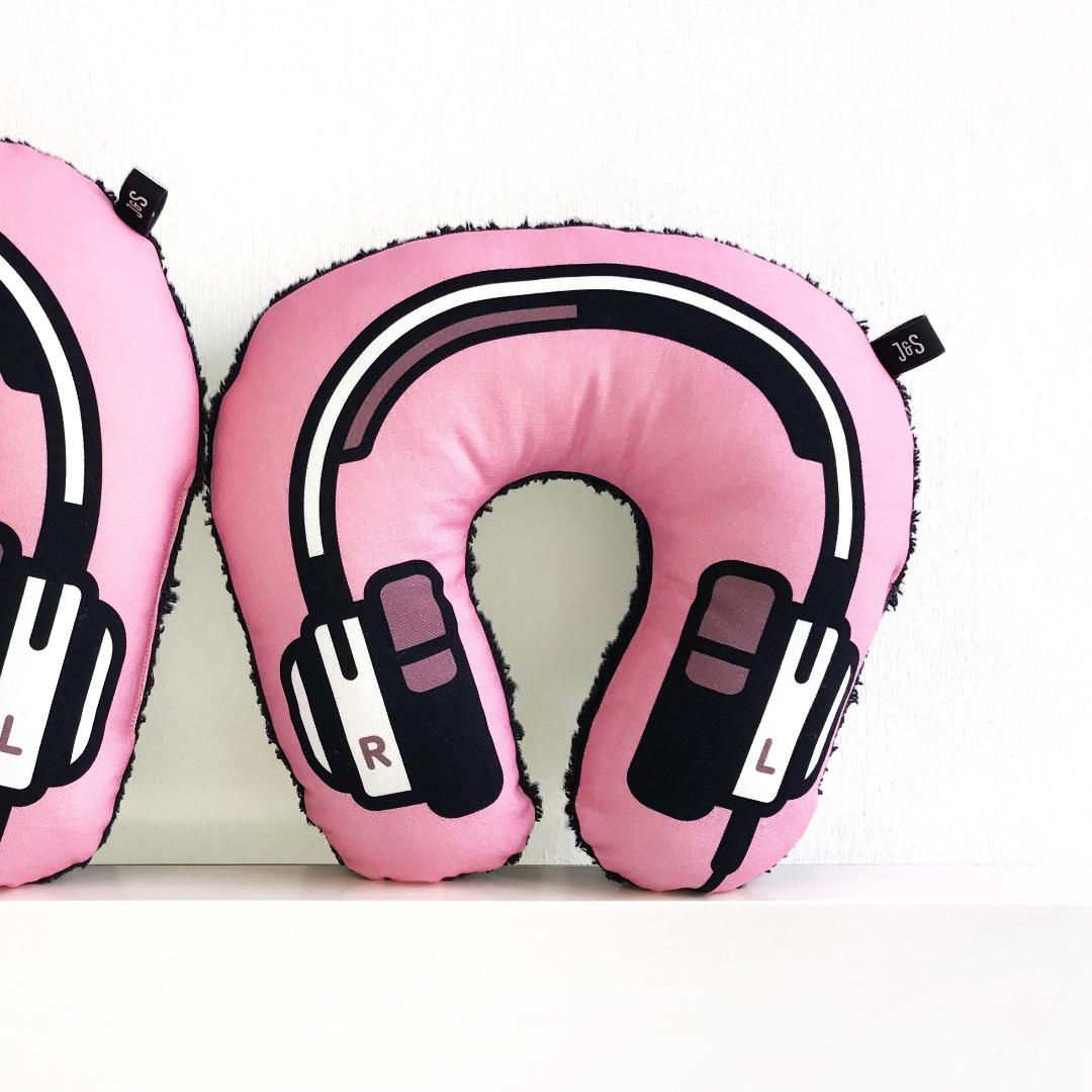 Kopfhörer Nackenkissen rosa KIDS