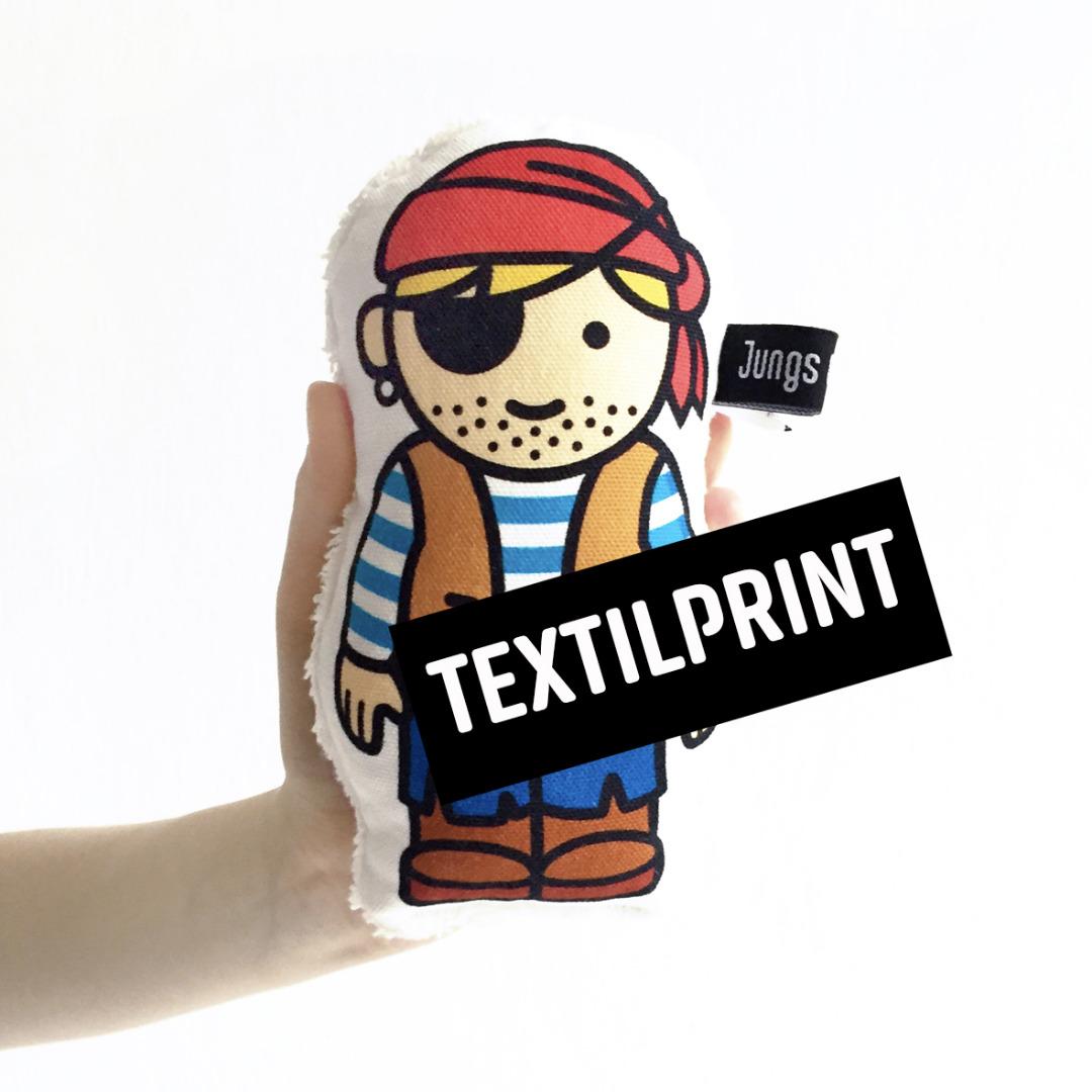Textilprint zum selber nähen Pirat