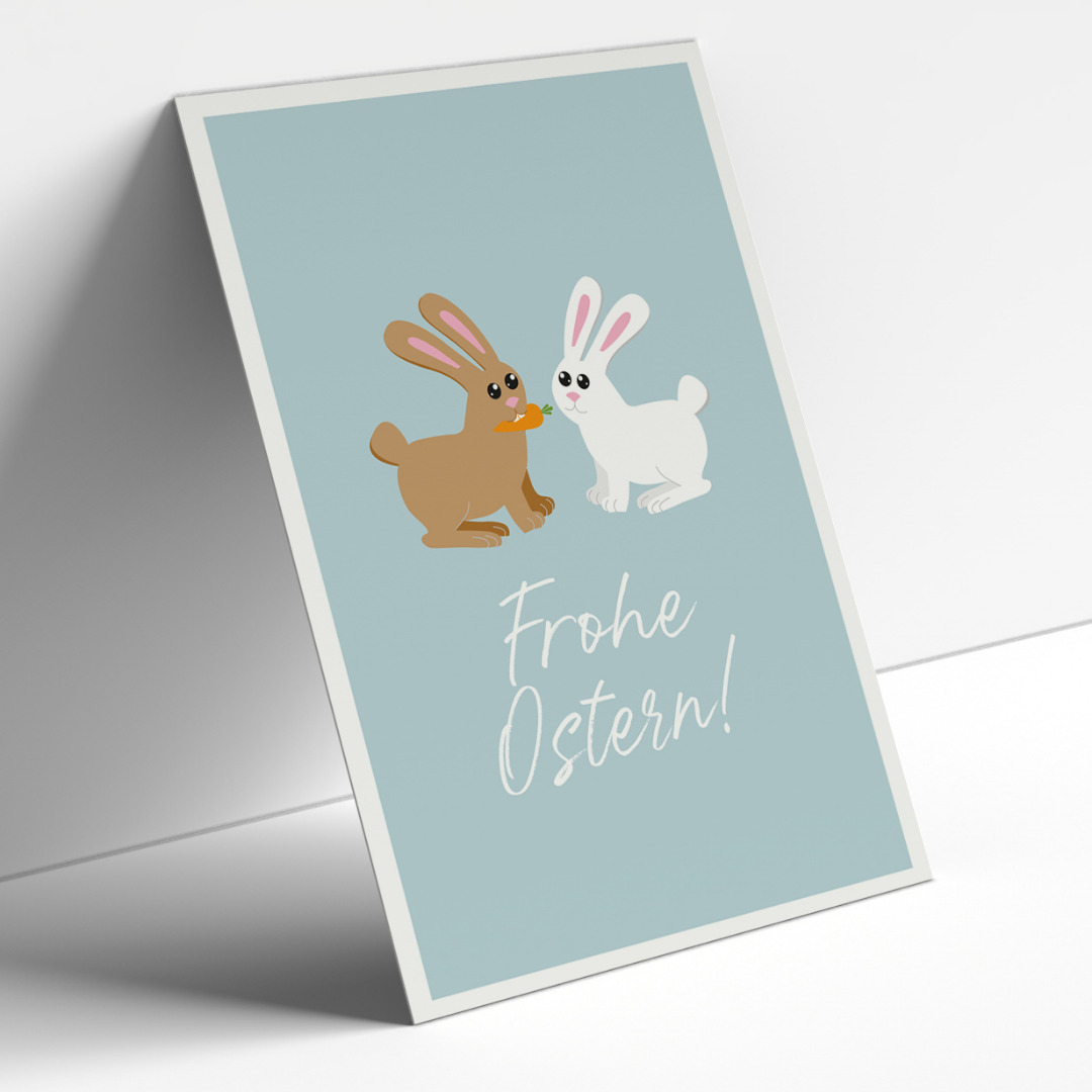 Postkartenset, Frohe Ostern, 5 Karten - 1