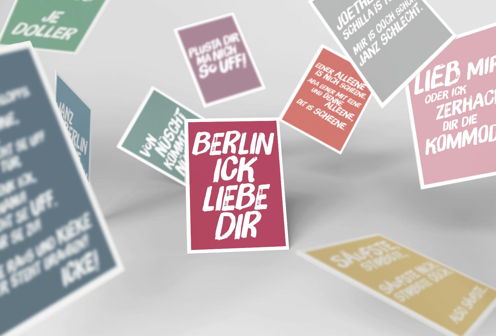 10 Postkarten Set // Berliner Mundart - 1