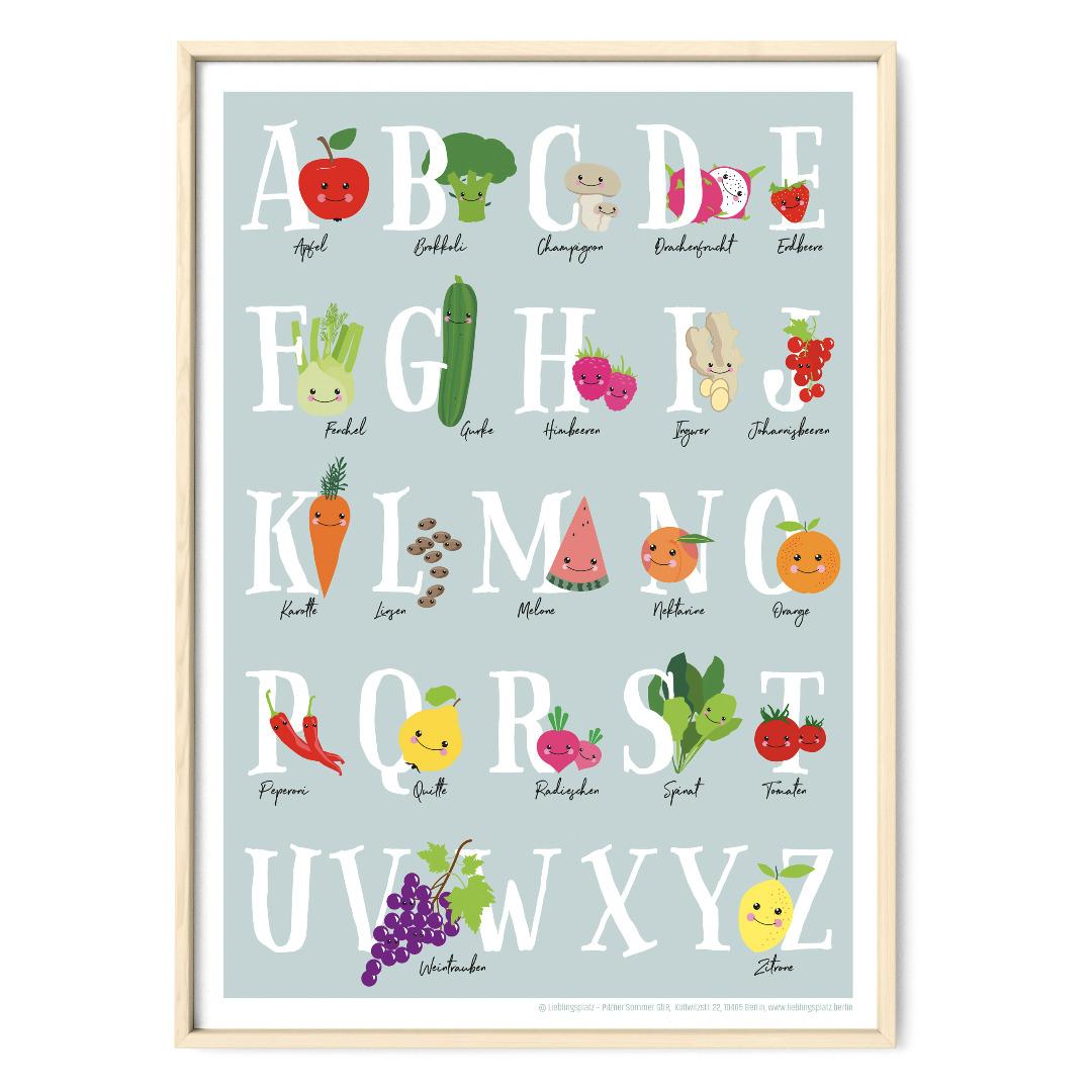 Veggi ABC Poster Plakat Kinderzimmerposter
