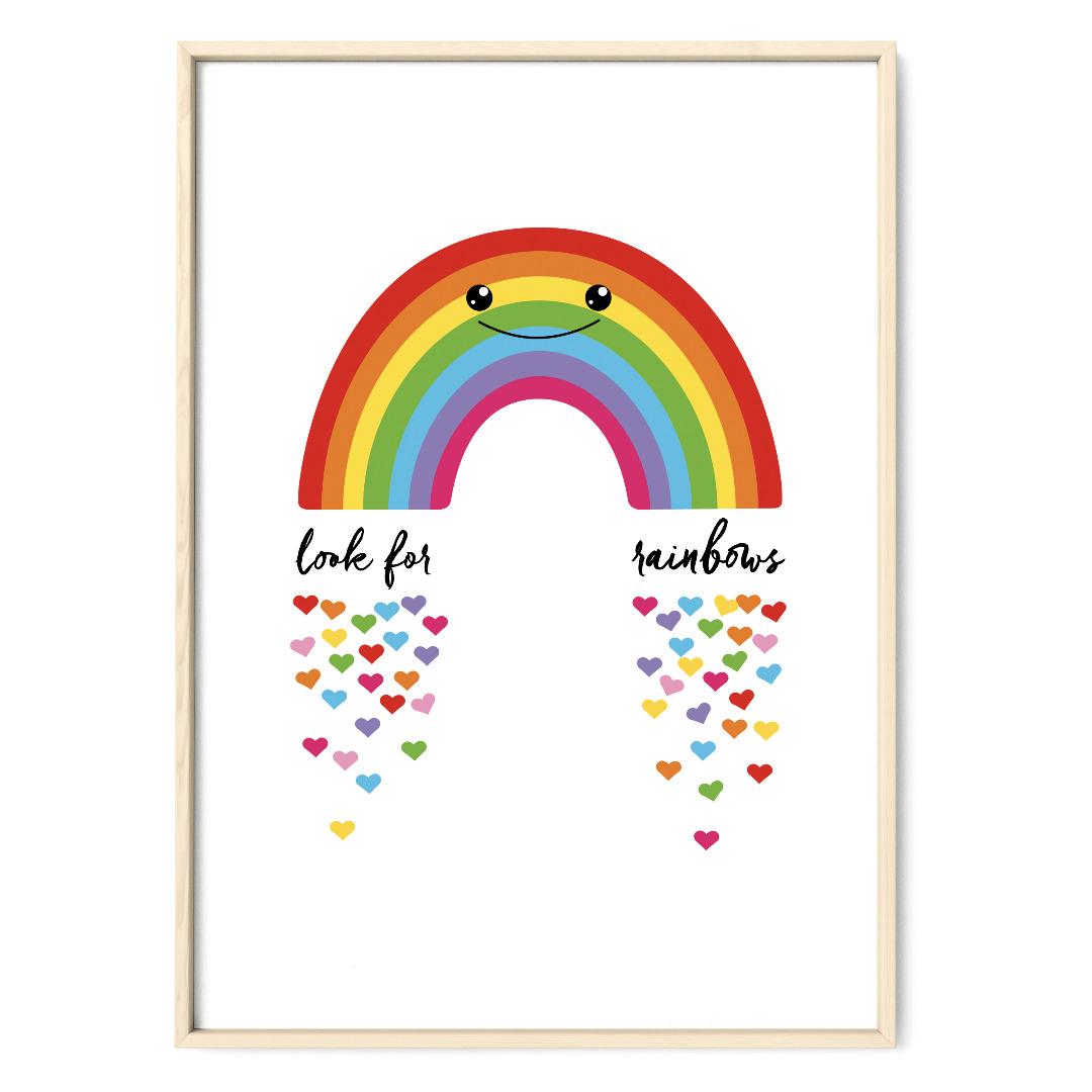 Regenbogen Poster Plakat Kinderzimmerposter