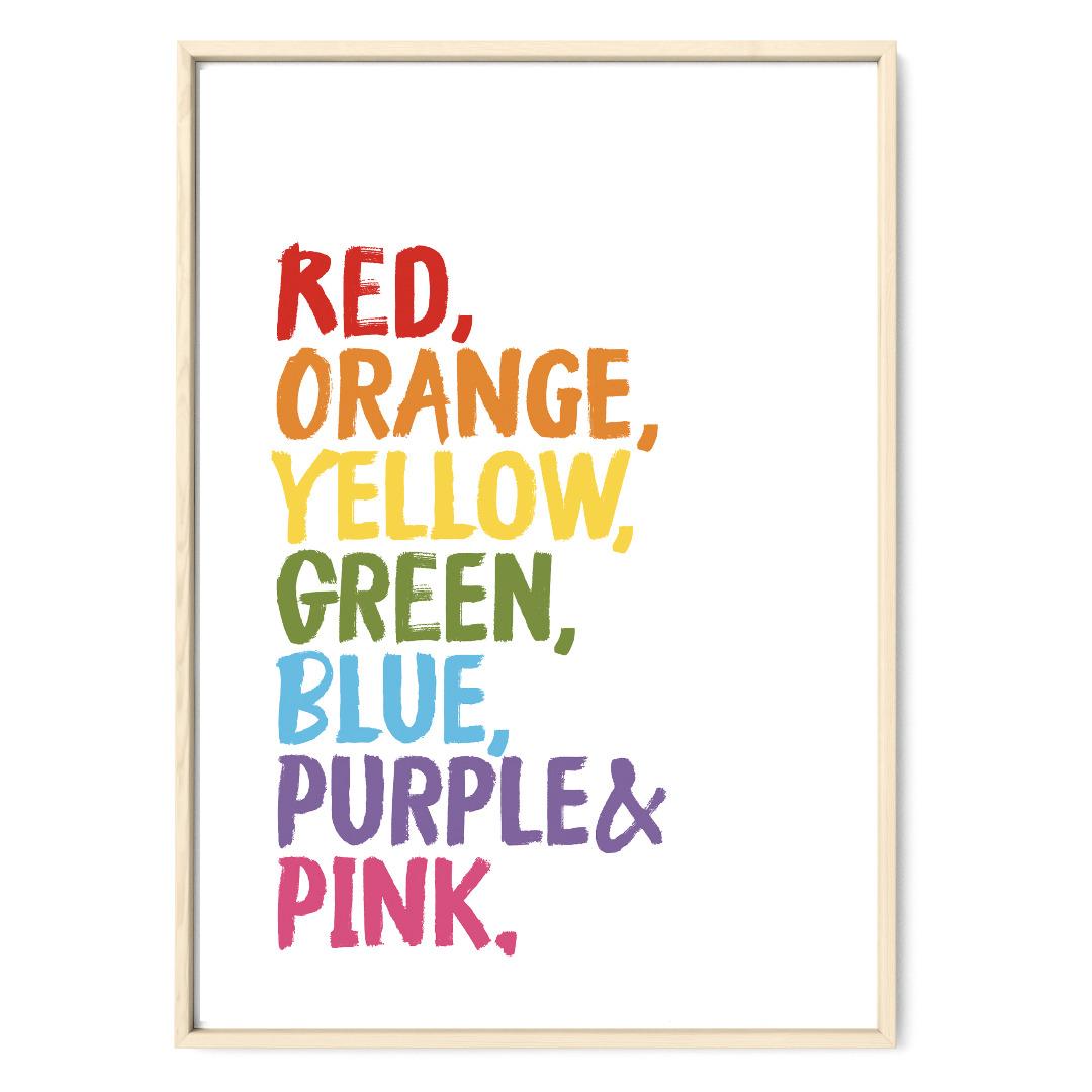Colors of a Rainbow Regenbogen Poster Plakat Kinderzimmerposter - 1