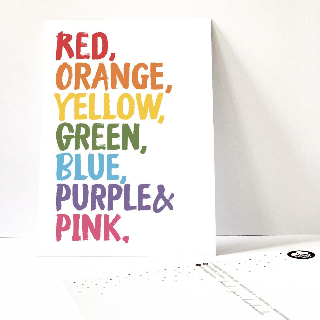 Postkartenset Colors of a Rainbow / 5 Postkarten