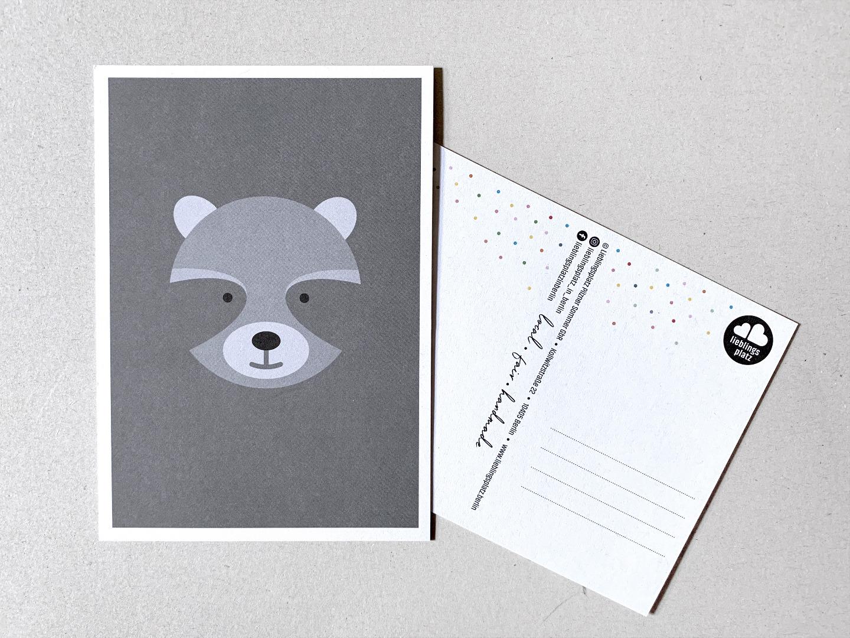 Postkarten Fuchs Eisbär Waschbär Papagei und - 5