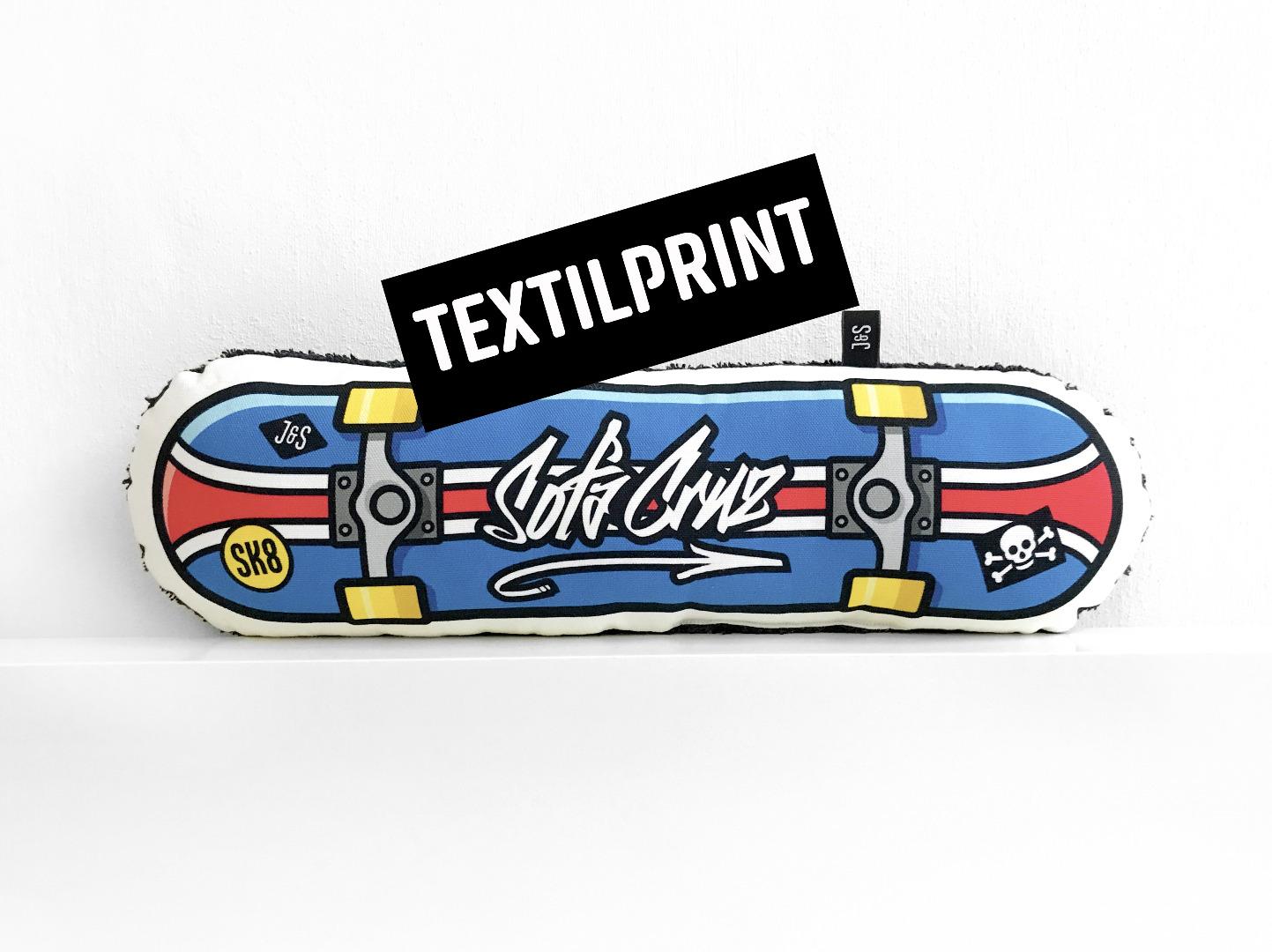 Textilprint zum selber nähen Skateboard Sofacruz