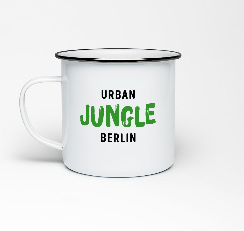 Emailletasse mit Berliner Fernsehturm Emaillebecher Tasse Berlin - 2