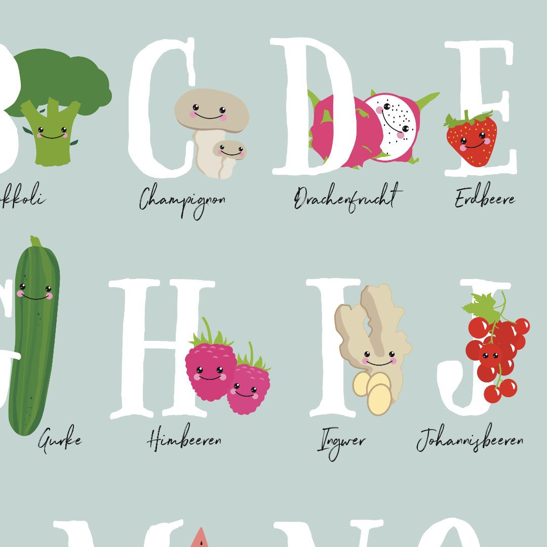 Veggi ABC Poster Plakat Kinderzimmerposter - 3