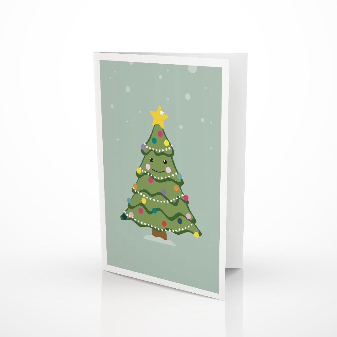 Grußkarte Weihnachtsbaum Weihnachtskarte 2