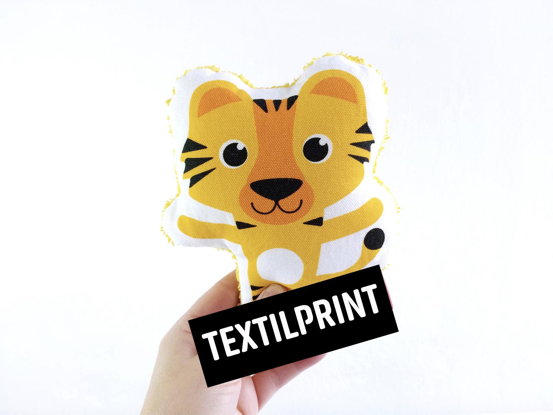 Textilprint zum selber nähen Tiger