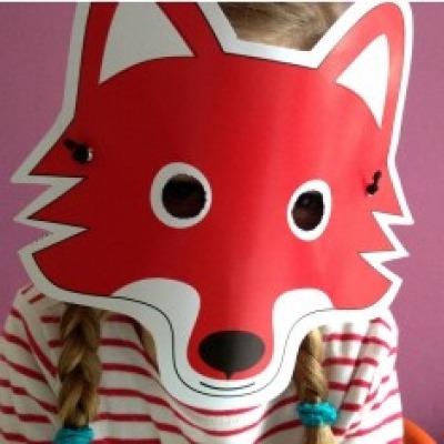 Fuchs-Maske / Bastelset