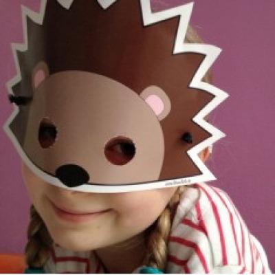 Igel-Maske / Bastelset