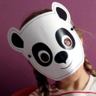 Panda-Maske / Bastelset