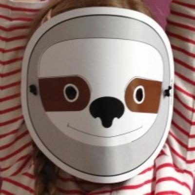 Faultier-Maske / Bastelset