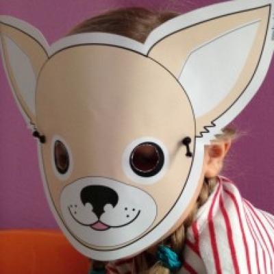 Chihuahua-Maske / Bastelset