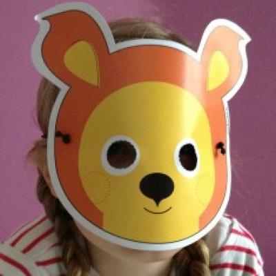 Eichhörnchen-Maske / Bastelset