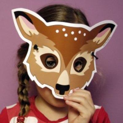 Reh-Maske / Bastelset
