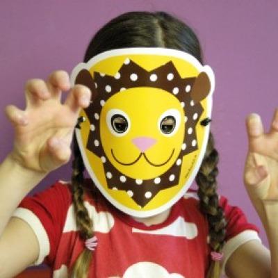 Löwen-Maske / Bastelset
