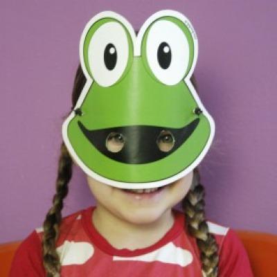 Frosch-Maske / Bastelset