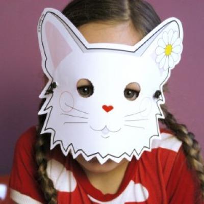 Katzen-Maske / Bastelset